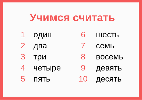 russian numbers lesson